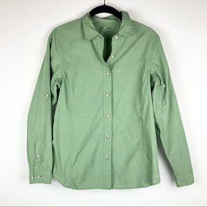 Exofficio Insect Shield Button Up Shirt Green Sz S